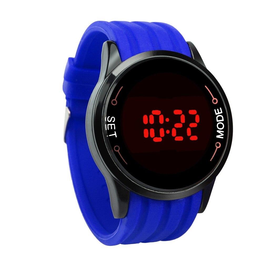 fb799b091334 1 reloj LED con correa de silicona con diseño de superficie Circular y  pantalla táctil