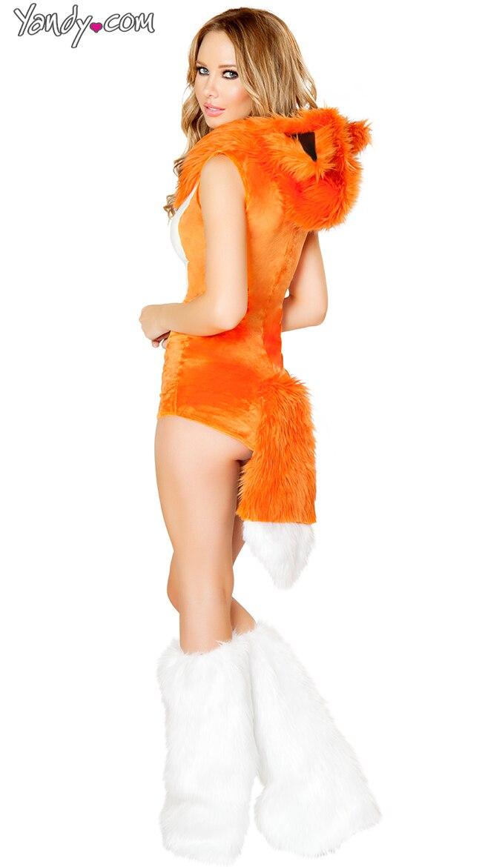 Fox Costume Female & Womens Hooded One-piece Halloween Fox