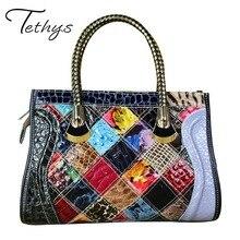 2017 echtem Leder Weibliche Beutel Luxus Handtaschen Frauen Taschen Designer Handtaschen Frauen Berühmte Marken Tote Tasche Messenger Bags Weiblichen