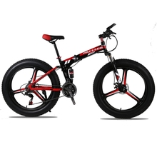 "(Only for Russia) High-Quality Folding Bicycle 26 inches 21/24 Speed 26×4.0 "" Front and rear damping bike Mountain Bike"