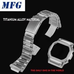 Титановый сплав ремешок для часов ободок/Чехол DW5600 GW5000 GW-M5610 металлический ремешок стальной ремень инструменты для мужчин/женщин подарок