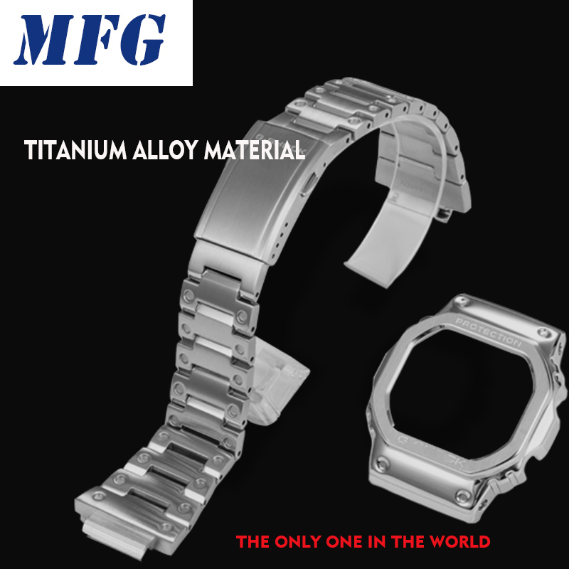 Titanium Alloy Watchband Bezel/case DW5600 GW5000 GW-M5610 Metal Strap Steel Belt Tools For Men/women Gift