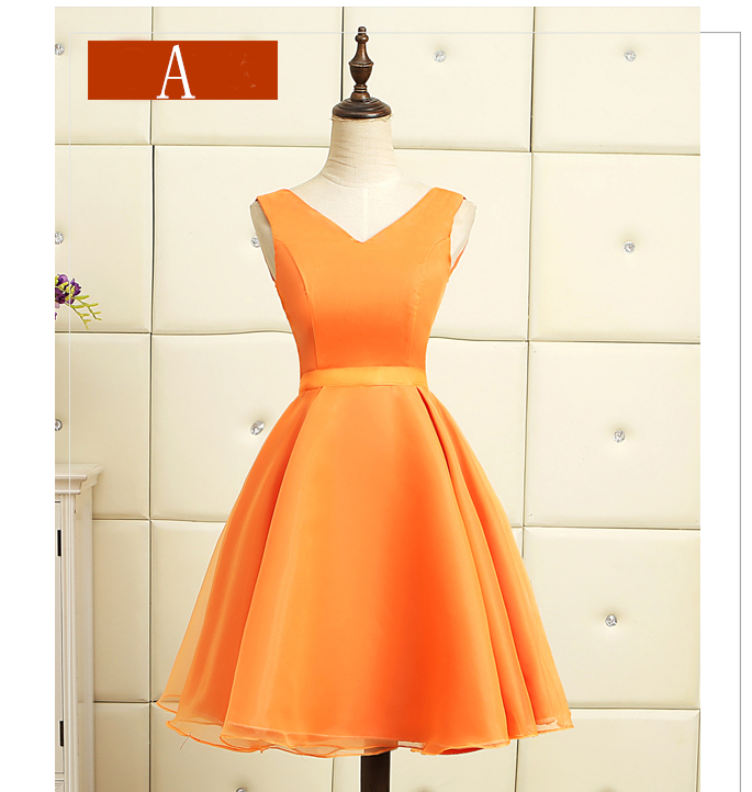6ef98bb377 country orange teen short lace up back tulle cute dress formal ...