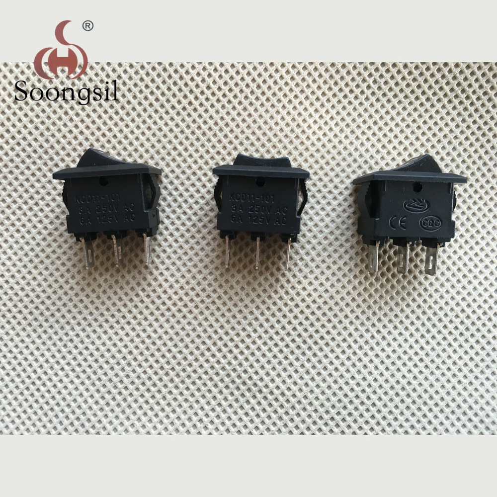 5pcs On/Off/On  Mini Rocker Switch 3 Position Car Dashboard 15*10MM SPDT  15A 250VAC, 20A 125VAC yellow led on off rocker switch w terminal protector set for electric appliances 2 pcs