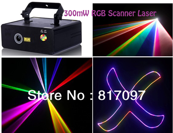 Venta 300mW RGB Colorido Escaner Luz Laser Grafica Lasery 10KPPS Velocidad Escaner DJ Etapa Eventos Fiestas KTV Envio Gratis