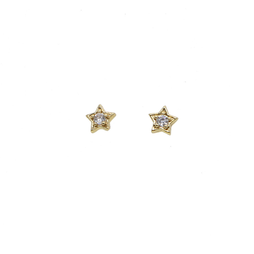 Gift For Her Tiny Gold Star Earrings Stars Celestial Jewelry Brass Sterling Star Earrings minimalist earrings
