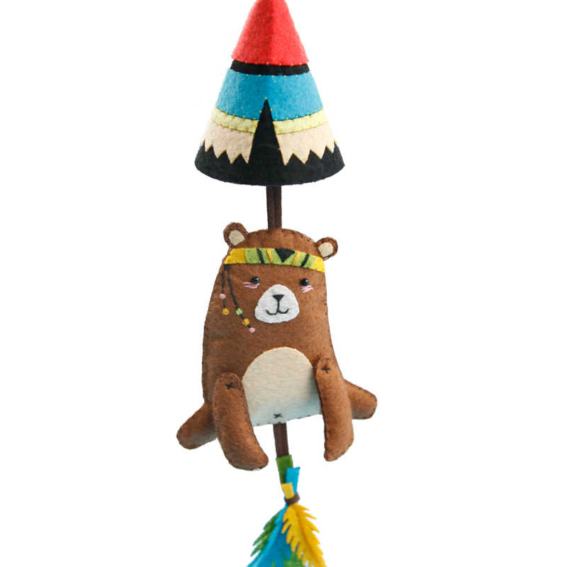 Войлочная ткань легко DIY Автомобильный кулон красивый дизайн с медведем сумка орнамент ручной работы ключ кулон войлочный материал для упаковки своими руками