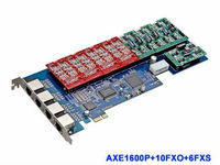 AXE1600P Digium Card With 10 FXO Ports Included Supports Up To 16 FXO FXS Ports PCI