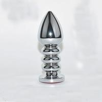Wodoodporna 10*3.8 cm Metal Anal Plug Butt Korki Zabawki Sex Zabawki dla Kobiet Ze Stali Nierdzewnej + Kryształ Biżuteria, spirala Kulki Analne