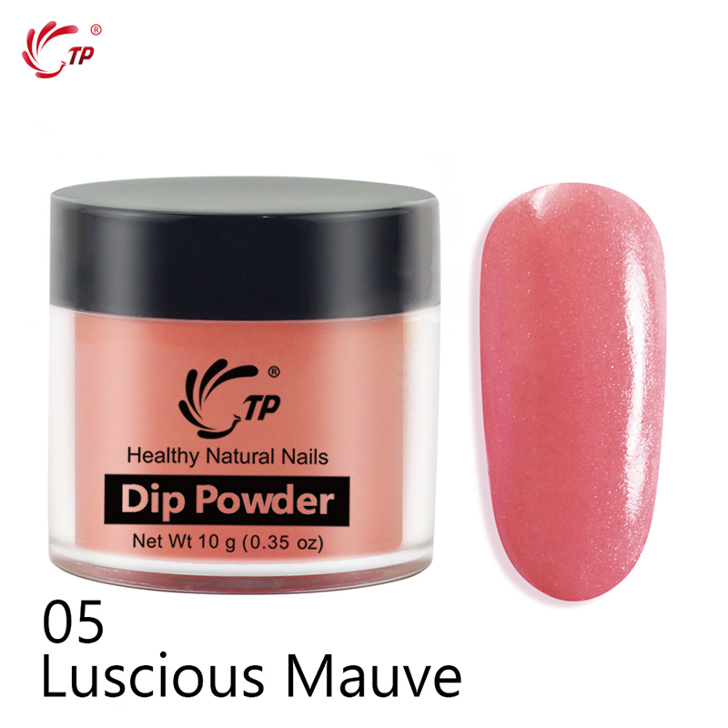 TP 10g 0 35oz Dipping Powder Without Lamp Cure Nails Glitter Powder Natural Dry Nail Art Decorations Pink Red Candy Colors Dip in Nail Glitter from Beauty Health