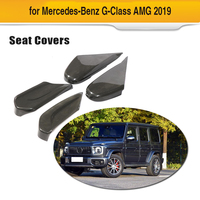 Углерода волокно для Mercedes Benz G Class AMG 2019 автокресло боковую крышку рамки отделкой регулятор сидения Кнопка панель Крышка отделка