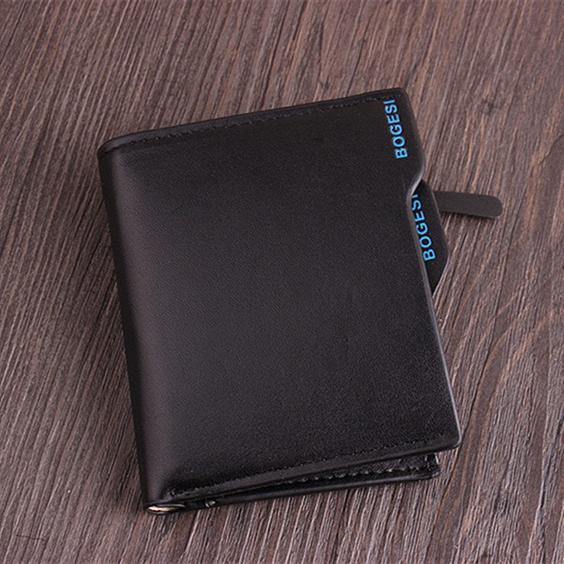 Wallet Leather Men's Wallet Credit Card Holder Blocking Zipper Closure Pocket Thin Size Solid Type Designer Purse High Quality