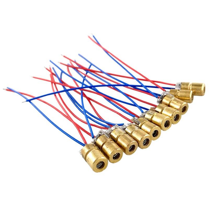 MCIGICM лазерный диод 1000 шт. 650nm 6 мм 5 в 5 мВт Регулируемый точечный диодный модуль красная Медная головка