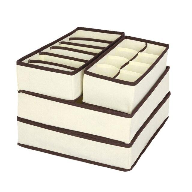 LASPERAL шт. 4 шт. ящики для хранения нижнее белье делитель ящик с крышкой Шкаф Органайзер Ropa интерьер Organizador для галстуков Носки Шорты бюстгальтер
