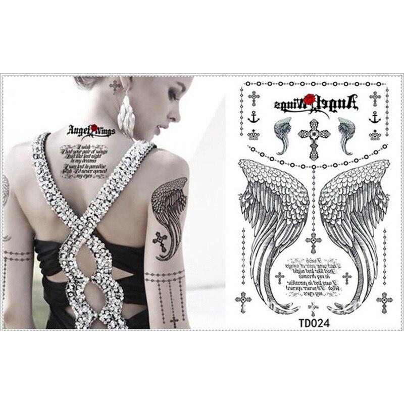 Size 21 X 145cm Rose Angel Wings Jewelry Bracelet Cross Crown