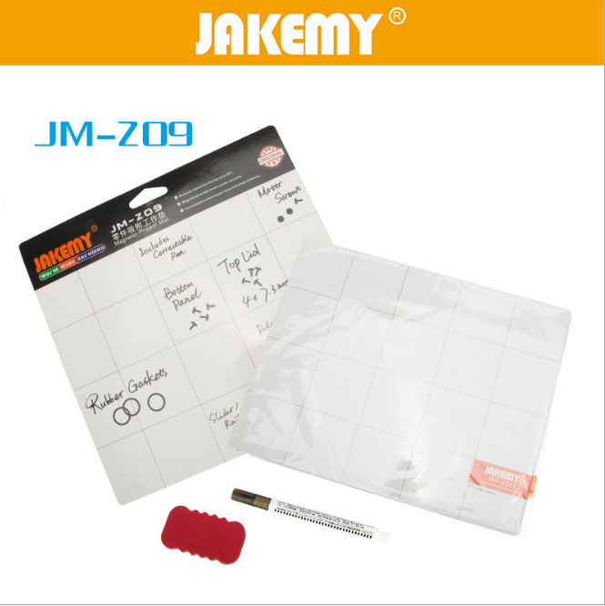 JAKEMY JM-Z09 Magnetic Project Mat Screw Work Pad with Marker Pen <font><b>Eraser</b></font> for <font><b>Cell</b></font> <font><b>Phone</b></font> Laptop Tablet iPhone Repair Tools Mat
