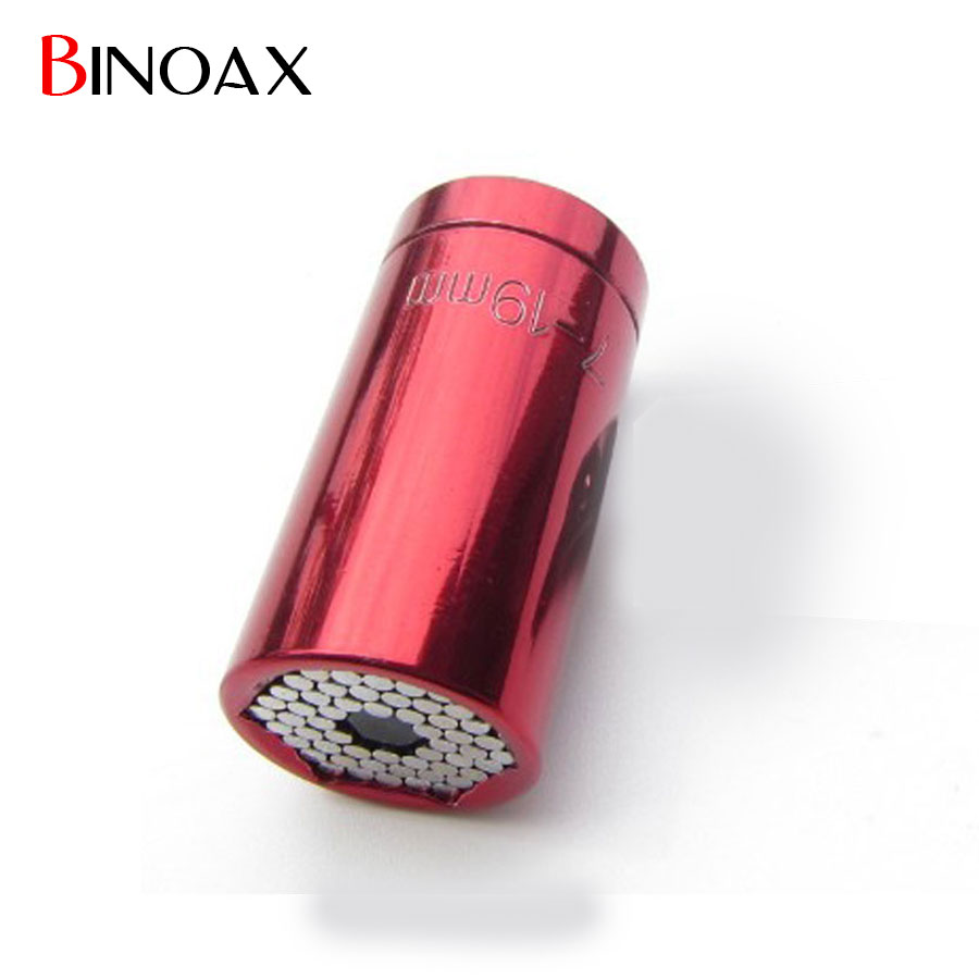 Binoax 7-19mm Gator Grip Multi Function Ratchet Universal Socket Power Drill Adapter Car Hand Tools Repair Kit