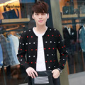 Mens casual sweater cardigan famous designer brands high quality trendy color spots knitted cashmere cardigan masculine Male