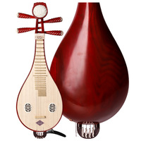 Big Sale!! Professional Traditional Liuqin Lignum vitae Liu Qin Chinese Lute Mandolin Musical Instrument