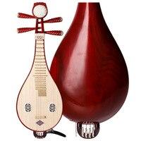 Professional Traditional Liuqin Lignum vitae Liu Qin Chinese Lute Mandolin Musical Instrument