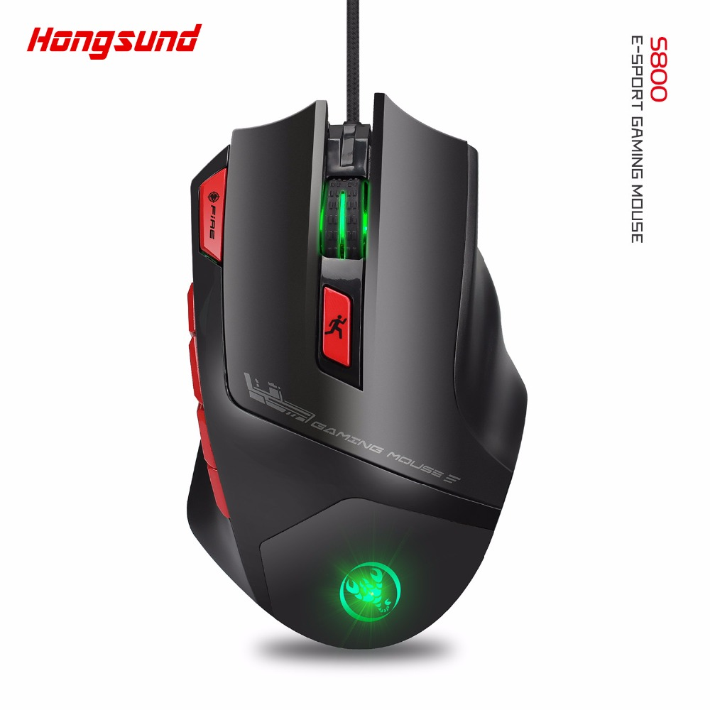 Gaming Mouse RGB backlight 9 key macro definition mice 6000 DPI  high-speed USB Wired mouse