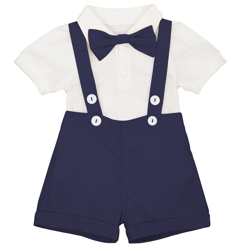 Baby Boy Clothes Cake Smash Outfit 3pcs Set Boys Birthday Clothes Cute Wedding Party Gentleman Suit for Boys Photography Costume