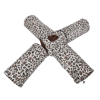 Cat Tunnel Leopard Print Crinkly 4 Ways Pet Tunnel Kitten Play Toy Collapsible Rabbit Toys Cat Toy Products For Fun