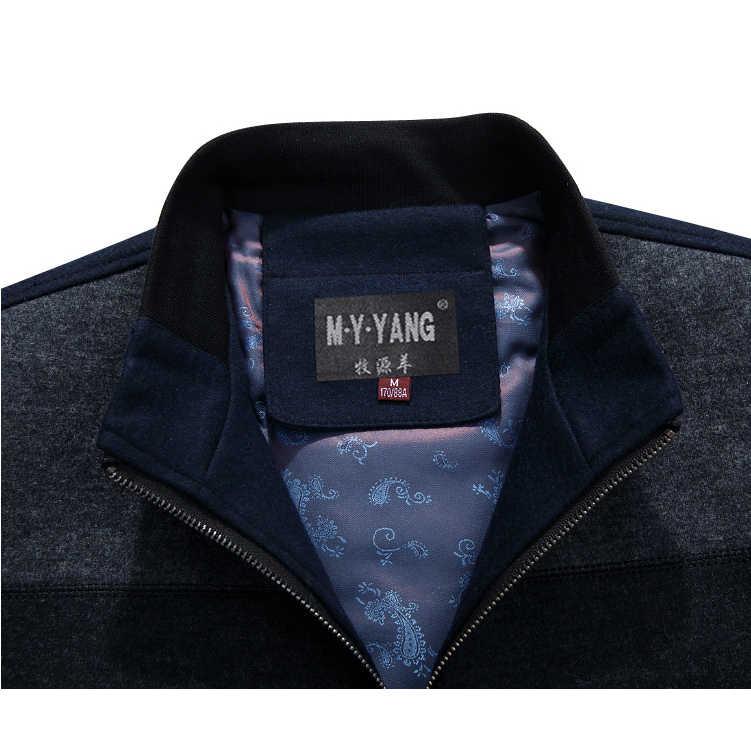 Му юань ян 2018 осень и зима для мужчин Шерсть и смеси скидка 50% мужской полушерстяные Пальто Повседневное мужские шерстяные куртк