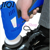 JIQI Household Shoe Polisher Electric Mini Hand Held Portable Leather Polishing Machine Polisher Shoes Cleaning Brush