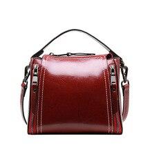 Girl Bag Realer Genuine Leather Sac Torebki Damskie Locomotive Crossbody Bags for Women Red Shoulder Bag Women Messenger Bags