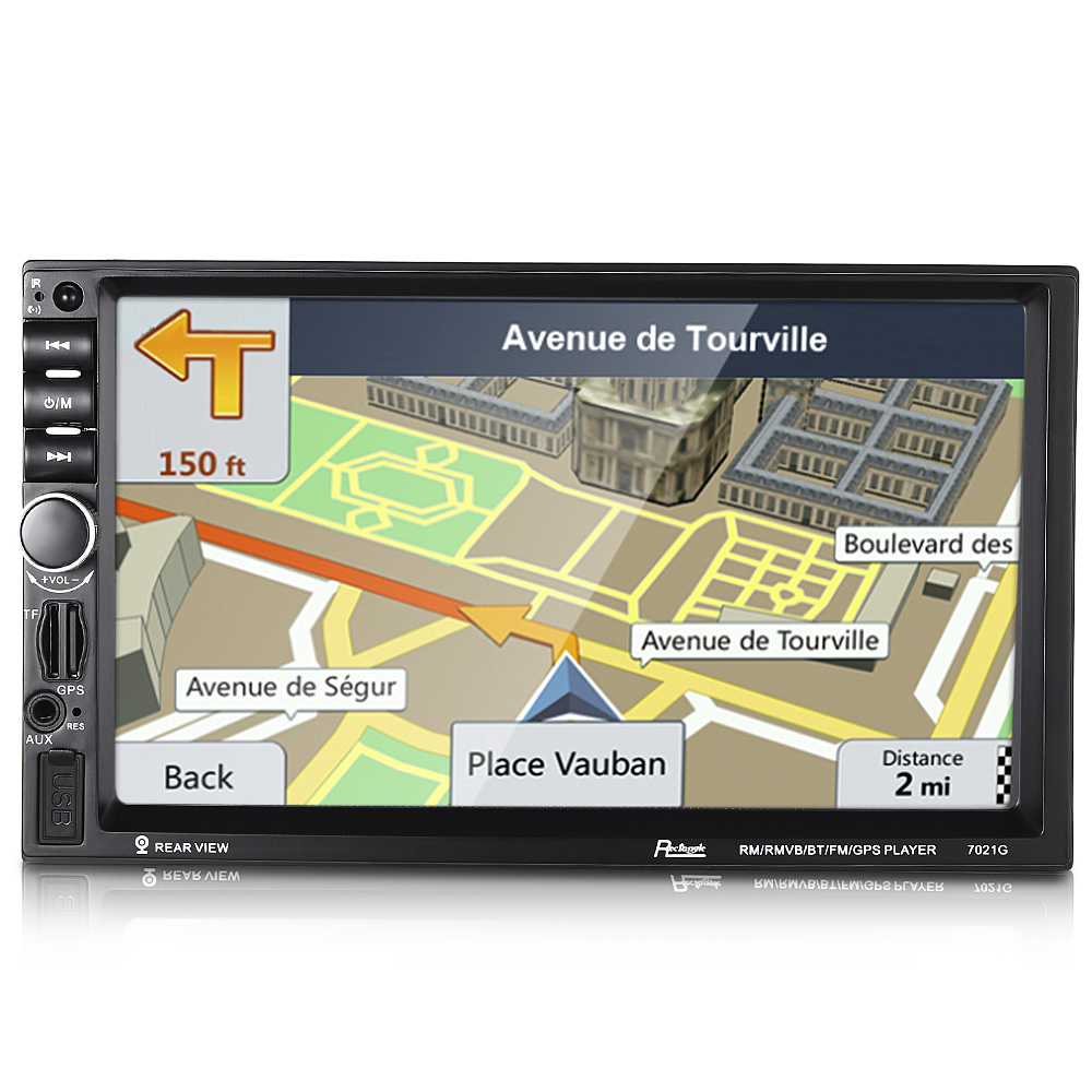 Rectangle 7021G 2 Double Din 7 inch HD Screen Car MP5 Player With Bluetooth FM Radio GPS European Map TF Card USB Port 7inch 2 din hd car radio mp4 player with digital touch screen bluetooth usb tf fm dvr aux input support handsfree car charge gps