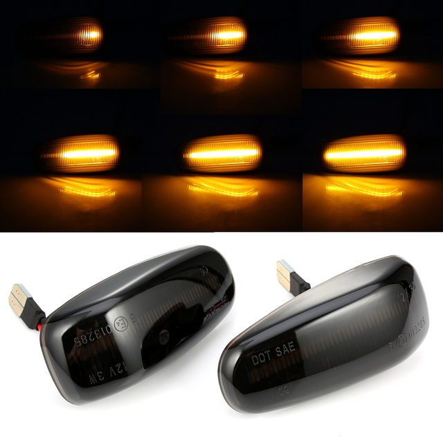 2 pieces For Mercedes BENZ E Class W210 C Class W202 W208 Led Dynamic Side Marker Turn Signal Light Sequential Blinker Light