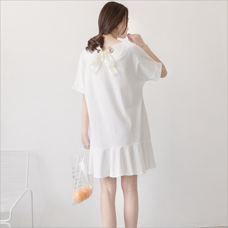 Summer Pregnant woman dress Pregnant woman blouse Cotton Fishtail dress Bat sleeve Pregnant dress Elegant maternity dresses 2018