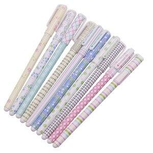 Image 5 - 50 יח\חבילה צבע עט ג ל עטים Kawaii עט Boligrafos Kawaii Canetas Escolar חמוד קוריאני מכתבים חמוד הלו קיטי ג ל עט