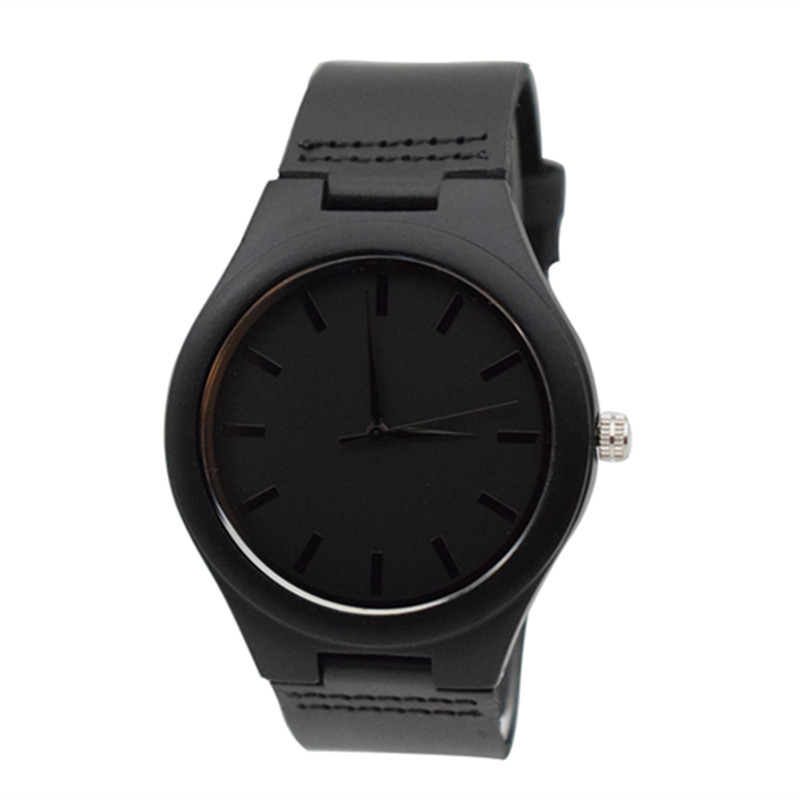 2018 Newest Black Wooden Watch For Men and Women Fashion Gifts For Chrismas Handmade Arts Wristwatch