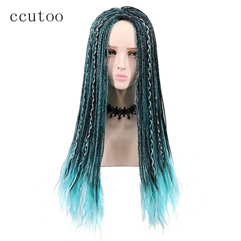 Ccutoo 3 Tones Blue Grey Mix Black Uma Braids Long