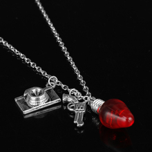 HANCHANG Fashion Jewelry Stranger Thing Statement Necklace Punk Tape Gun Camera Pendant Necklace Choker Chain Sweat Necklace