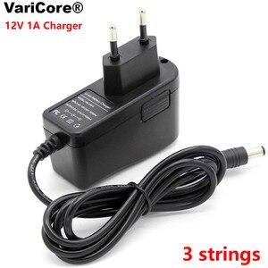 Image 2 - VariCore 12V 24V 36V 48V 3 seria 6 seria 7 seria 10 seria 13 struny 18650 ładowarka akumulatorów litowych 12.6V 29.4V DC 5.5*2.1mm