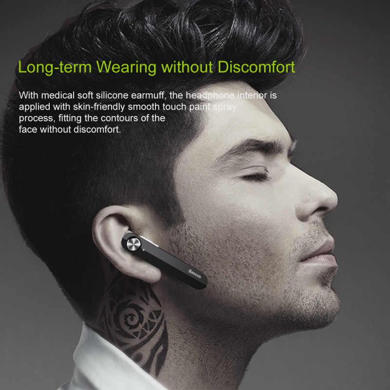 Baseus A01 bezprzewodowe słuchawki Bluetooth Mini przenośny biznes słuchawki z mikrofonem dla Samsung iPhone do jazdy Fone De Ouvid