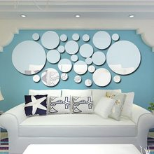 26pcs/set Acrylic Polka Dot Wall Mirror Stickers DIY Art Decal Home Party Room Bathroom Decoration Wall Stick цена 2017