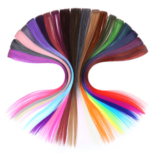 JINKAILI 5 pieces Heat Resistsnt Synthetic Fake Hair Extensions One Pieces Long Straight Clip in 20 Colors