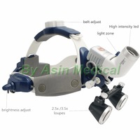 new arrival 5W LED Surgical Head Light dental Lamp All in Ones Headlight with loupes 2.5X , 3.5X