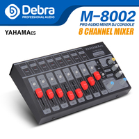 8 Channel single/4 Channel stereo USB Portable Mini mixer audio Console Mixer dj controller Extended for band, stage,karaok