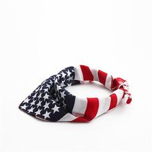 American Flag Pet Dog Bandana Washable Reversible Square Neck Head Scarf for Medium ans Large Dogs and Cats