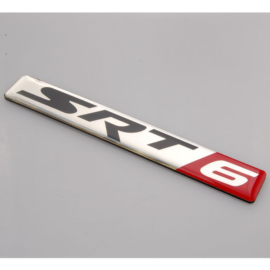 Алюминиевый автомобиль srt6 и СРТ 6 эмблема значок наклейка для претендентом зарядное устройство гоночный автомобиль для укладки автоматический аксессуары автомобиль чехлы