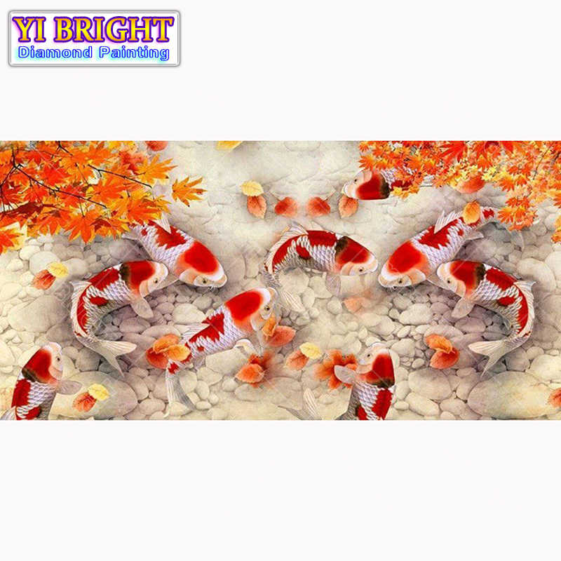 Diy diamond painting cross stitch Every year there is fish Full Round Diamond embroidery Needlework Rhinestone Mosaic Crafts