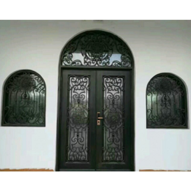 Aliexpress Buy Metal Glass Double Entry Doors Luxury Double