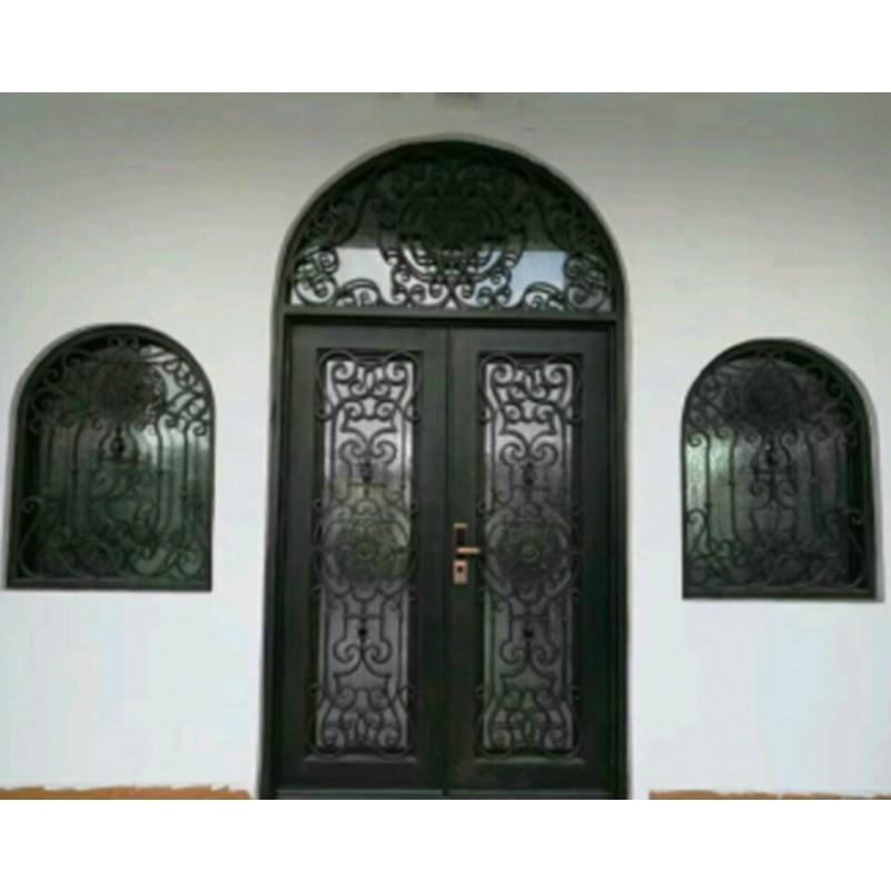 Metal Glass Double Entry Doors Luxury Double Entry Doors Arched Double Entry Doors Hc-ird4