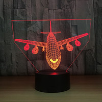 Gift for boyfriend 7 Color Change 3D Hologram Lamp Airplane Lights party favor anniversary present Valentine's day gift
