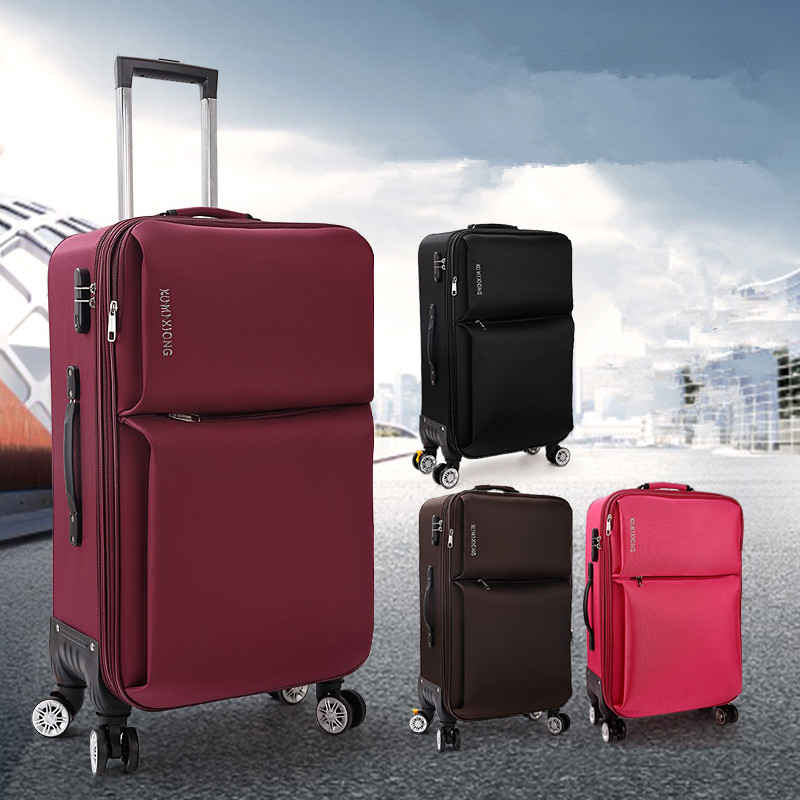 High quality 20inches waterproof oxford fabric commercial trolley luggage bags on universal wheels,male and female travel luggag